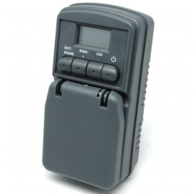 Taffware Digital Timer Switch with IP44 Waterproof - WT001 - Gray