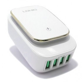 LDNIO Charger USB 4 Port 4.4A with LED Light - A4405 - White