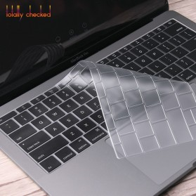 TPU Keyboard Cover for Macbook Pro 13 A1708 2016 2017 without Touchbar & Macbook 12 Retina - 4H8YF - Transparent - 3