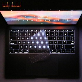 TPU Keyboard Cover for Macbook Pro 13 A1708 2016 2017 without Touchbar & Macbook 12 Retina - 4H8YF - Transparent - 8