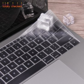 TPU Keyboard Cover for Macbook Pro 13 A1706 2016 2017 with Touchbar - 4H8YF - Transparent