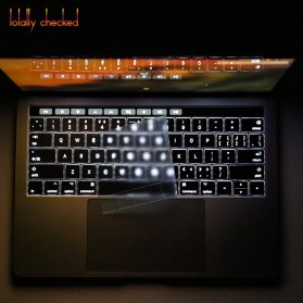 TPU Keyboard Cover for Macbook Air 13 Inch A1932 - 4WC3P - Transparent - 5