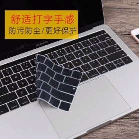 TPU Keyboard Cover for Macbook Pro 13 15 Inch with Touch Bar 2016 2017 2018 2019 - Black - 3
