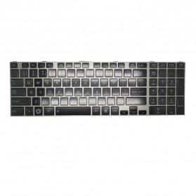 Toshiba Satellite C850 L850 L850D L855 L855D L870 L875 - with Silver Frame - Black