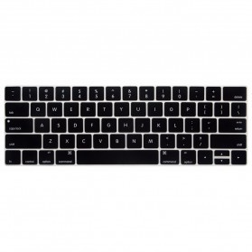 Silicone Keyboard Cover for Macbook Pro 2016 with Touchbar - RV77 - Black