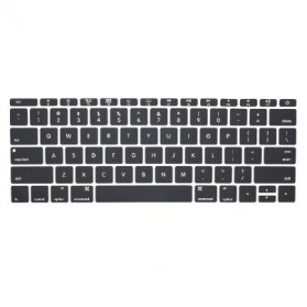 Keyboard Silicone Cover Protector Skin for Macbook 12 Inch / New Macbook 2015 - KB037 - Black - 2