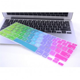 Rainbow Color Silicone Keyboard Cover Protector Skin for Macbook Air 13 / Pro 13 Inch - Multi-Color