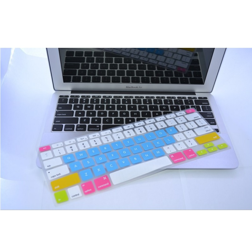 Candy Color Silicone Keyboard Cover Protector Skin for Macbook Air 13 / Pro .