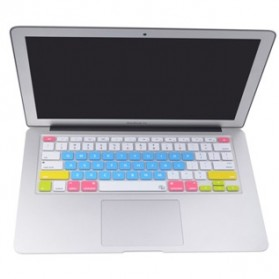 Aksesoris Laptop / Notebook - Candy Color Silicone Keyboard Cover Protector Skin for Macbook Air 15  / Pro 15 Inch - Blue