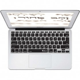 HRH Solid Color Silicone Keyboard Cover Protector Skin for Macbook Air 11.6 Inch - Black - 2