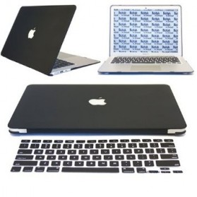 HRH Solid Color Silicone Keyboard Cover Protector Skin for Macbook Air 11.6 Inch - Black - 3
