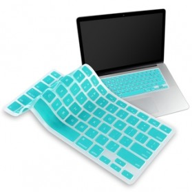Solid Color Silicone Keyboard Cover Protector Skin for Macbook Air 11 Inch - Blue