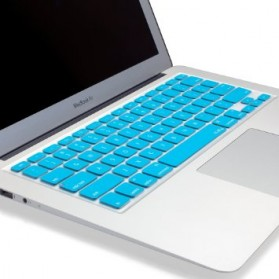 Solid Color Silicone Keyboard Cover Protector Skin for Macbook Air 13 / Pro 13 Inch - Blue - 3