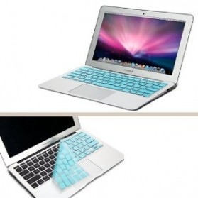 Solid Color Silicone Keyboard Cover Protector Skin for Macbook Air 13 / Pro 13 Inch - Blue - 4