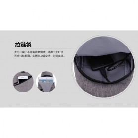 Tas Selempang Crossbody Sling Bag Sporty dengan USB Charger Port - Black - 4