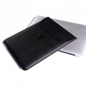 DOWSWIN Sleeve Case Kulit for MacBook Pro Touchbar 13 Inch - SY010 - Black - 4