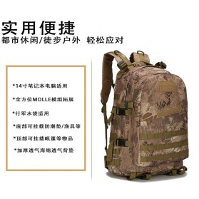 Tas Ransel Army Style Hiking Camping Mountaineering Military - A-688 - Gray - 3