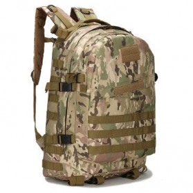 Tas Ransel Army Style Hiking Camping Mountaineering Military - A-688 - Army Green