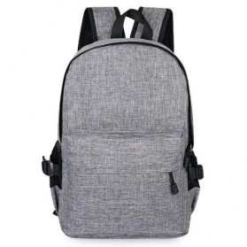 Tas Ransel Laptop Travel Bag with USB Charger Port - RA00035 - Gray