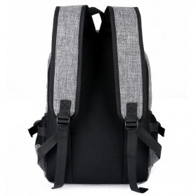 Tas Ransel Laptop Travel Bag with USB Charger Port - RA00035 - Gray - 3