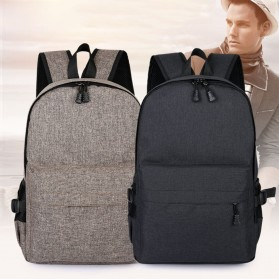 Tas Ransel Laptop Travel Bag with USB Charger Port - RA00035 - Gray - 7