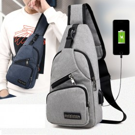 Mei JieLua Tas Selempang Crossbody Bag dengan USB Charger Port - 180613 - Gray