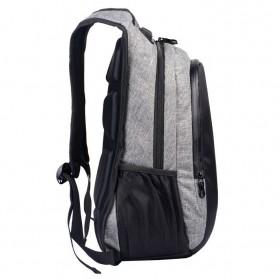 Manjianghong Tas Ransel Laptop 15.6 Inch dengan USB Port - 8691 - Black/Gray - 3