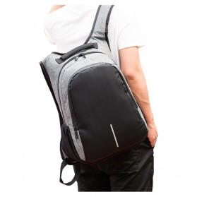 Manjianghong Tas Ransel Laptop 15.6 Inch dengan USB Port - 8691 - Black/Gray - 4