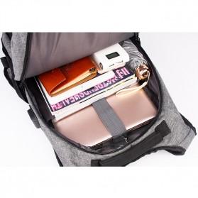 Manjianghong Tas Ransel Laptop 15.6 Inch dengan USB Port - 8691 - Black/Gray - 6