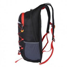 CLEVER BEES Tas Ransel Gunung Hiking Waterproof 35L - L50 - Black - 2