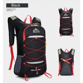 CLEVER BEES Tas Ransel Gunung Hiking Waterproof 35L - L50 - Black - 5