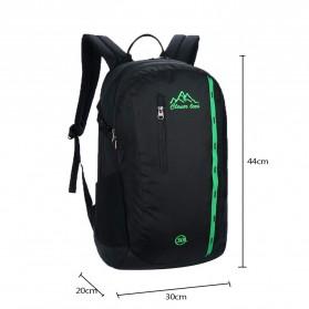 CLEVER BEES Tas Ransel Gunung Hiking Waterproof - L51 - Black - 2