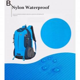 CLEVER BEES Tas Ransel Gunung Hiking Waterproof - L27 - Blue - 5