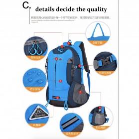 CLEVER BEES Tas Ransel Gunung Hiking Waterproof - L27 - Blue - 6