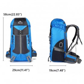CLEVER BEES Tas Ransel Gunung Hiking Waterproof 55L with USB Charger Port - L66 - Black - 4