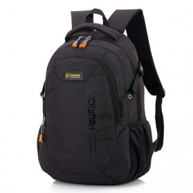 MANJIANGHONG Tas Ransel Laptop Backpack Oxford - 837-XB - Black