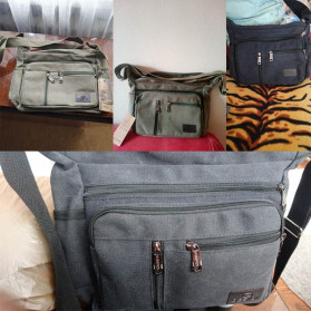 Gesiqi Tas Selempang Messenger Bag Bahan Canvas - ZA0318 - Black - 8