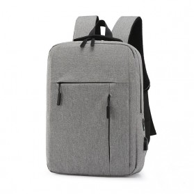 Japz Tas Ransel Backpack Anti Maling Casual Schoolbag USB Charging - TZ01 - Gray