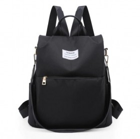 CHUWANGLIN Tas Ransel Backpack Campus Rucksack - Y41601 - Black