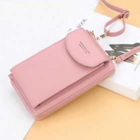BATSIOE Tas Selempang Kulit Wanita Mini Crossbody Shoulder Bag - DP8591 - Pink