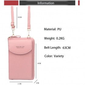 BATSIOE Tas Selempang Kulit Wanita Mini Crossbody Shoulder Bag - DP8591 - Pink - 10