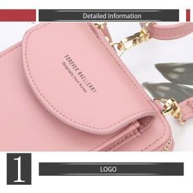 BATSIOE Tas Selempang Kulit Wanita Mini Crossbody Shoulder Bag - DP8591 - Pink - 4