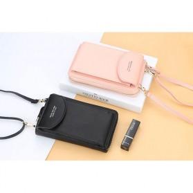 BATSIOE Tas Selempang Kulit Wanita Mini Crossbody Shoulder Bag - DP8591 - Pink - 7