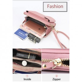 BATSIOE Tas Selempang Kulit Wanita Mini Crossbody Shoulder Bag - DP8591 - Pink - 9