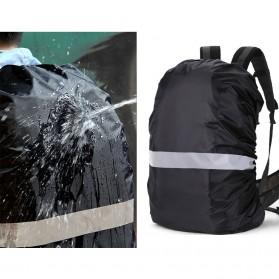 NEWBOLER Rain Cover Tas Ransel Backpack Camping Hiking with Reflektor 35L - NB100 - Black