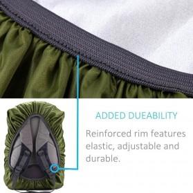 NEWBOLER Rain Cover Tas Ransel Backpack Camping Hiking with Reflektor 20L - NB100 - Black - 5