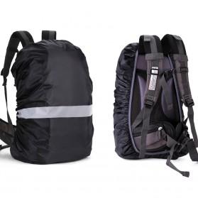 NEWBOLER Rain Cover Tas Ransel Backpack Camping Hiking with Reflektor 20L - NB100 - Black - 6