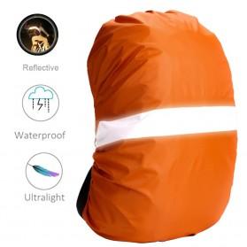 NEWBOLER Rain Cover Tas Ransel Backpack Camping Hiking with Reflektor 20L - NB100 - Black - 7
