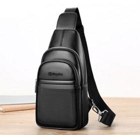 Rhodey Tas Selempang Pria Premium Kulit Leather Bag - HA-075 - Black