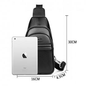 Rhodey Tas Selempang Pria Premium Kulit Leather Bag - HA-075 - Black - 10